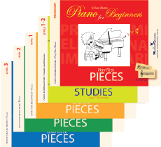 Piano for Beginners. 5 books set.