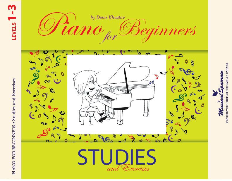 Piano for Beginners. Studies. Level 1-3