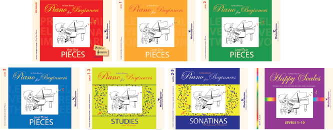 7 books of Piano for Beginners